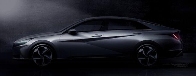 2021 Hyundai Elantra teaser, side view