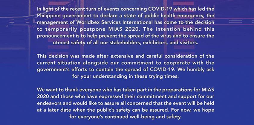 MIAS Official Statement