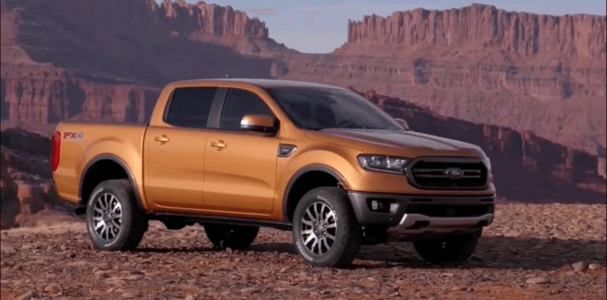 Orange 2019 Ford Ranger