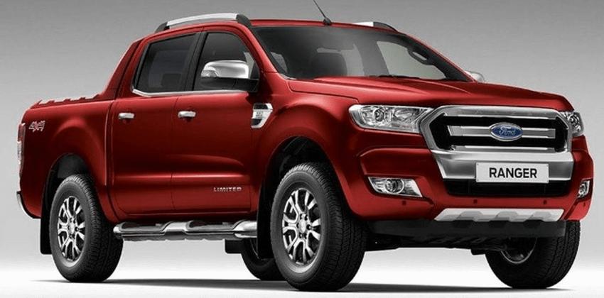 Red 2019 Ford Ranger